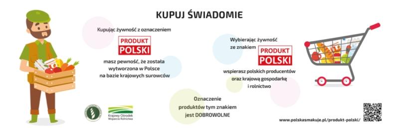 Baner kampanii promocyjnej PRODUKT POLSKI