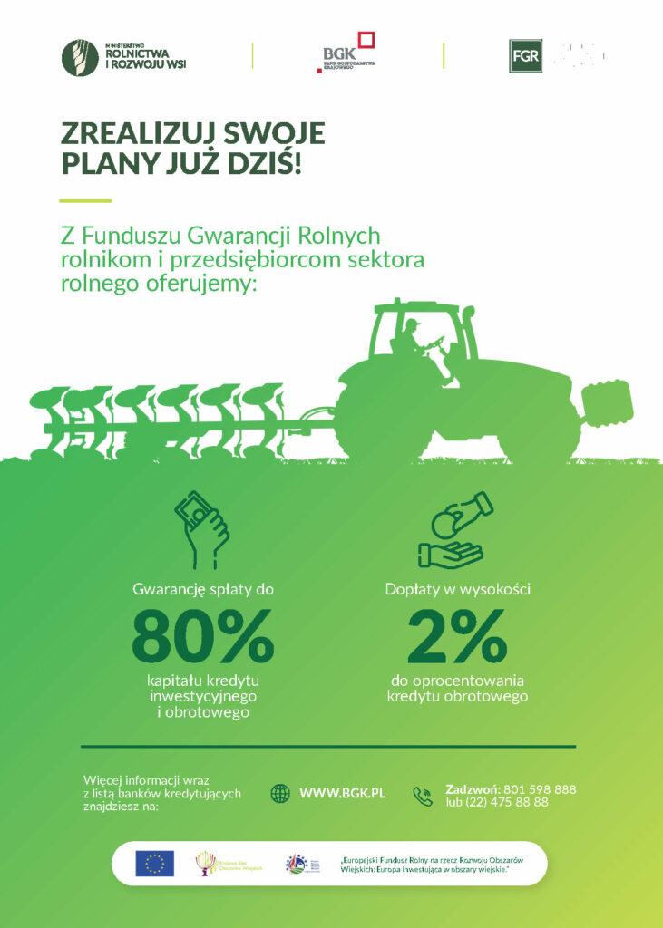 Plakat Fundusz Gwarancji Rolniczych